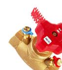 HERZ - Вентил за регулирање успонски водови и мерење на диференцијален притисок