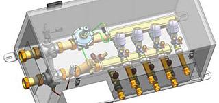 HERZ кутија за поврзување и регулација на термални единици